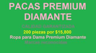 Paca Premium Diamante. 200 Piezas/ $15,800