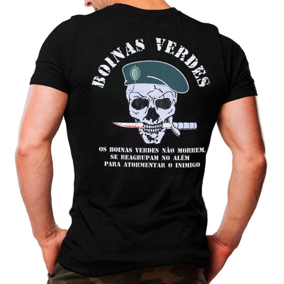 Camiseta Original E Oficial Boinas Verdes 100% Algodão
