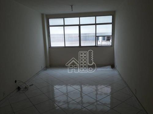 Sala, 32 M² - Venda Por R$ 120.000,00 Ou Aluguel Por R$ 455,00/mês - Centro - Niterói/rj - Sa0085
