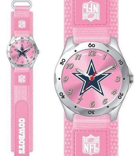 Reloj Cowboys Original Nfl Rosa