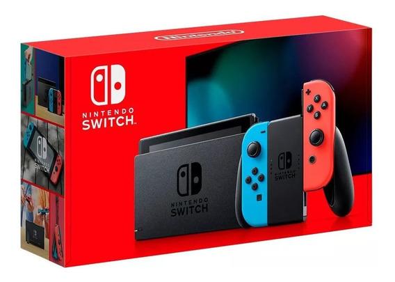 Nintendo Switch 32gb Neon Colorido Bateria Maior Envio Já