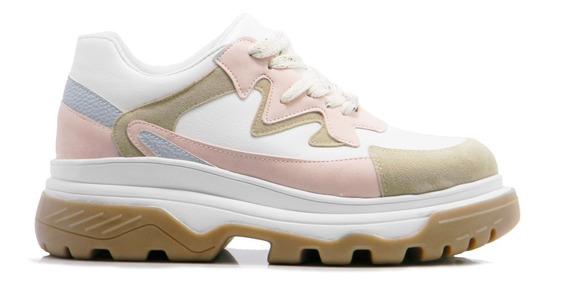 Zapatilla Mujer Blanco Savage Plataforma Sneaker