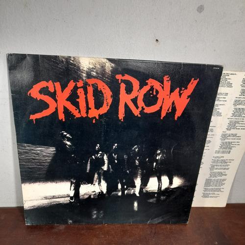Imagem 1 de 8 de Vinil Lp Skid Row 1989 Com Encarte Bom Estado.