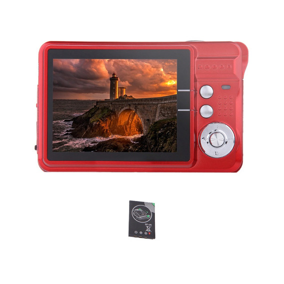 Hd Digital Câmera 18mp 2,7 Tft 8 X Zoom Sorriso Captura Da