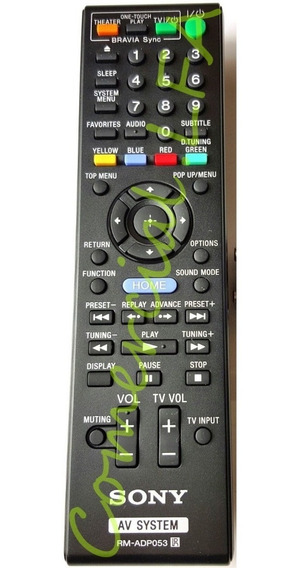 Remoto Sony Rm-adp053 Repõe Rm-adp090 Rm-adp098 Rm-adp097w U