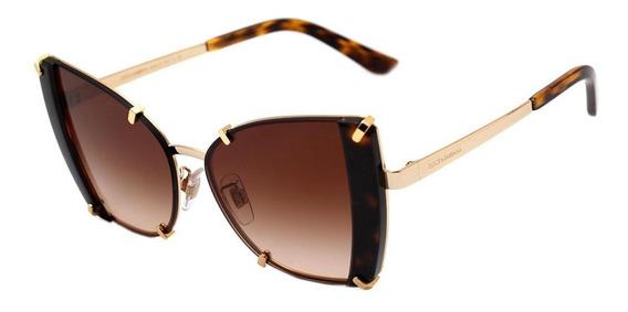 Dolce & Gabbana Dg 2214 - Óculos De Sol 02/13 Marrom Mesclad