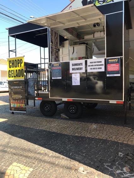 Trailer Food Truck Pouco Usado, Montado