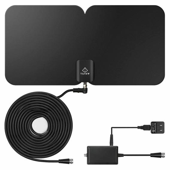 Tv Antenna, Tilview 1080p Ultra-thin Indoor Amplified Digita