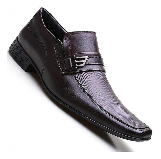 Sapato Social Masculino Couro Estampado Pierutti
