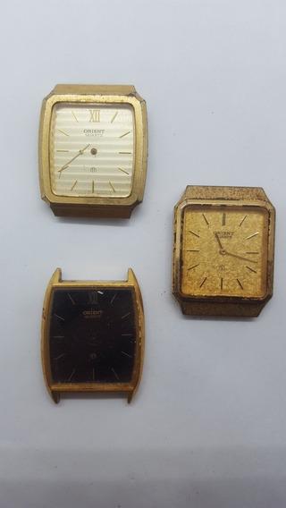 Lote 3 Relógios Orient Quartz
