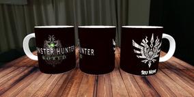 Caneca Monster Hunter Worl - Personalizado Com Nome - Games