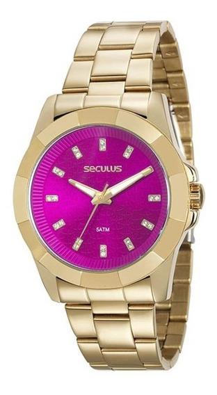 Relógio Seculus Feminino 20561lpsvds2 Dourado