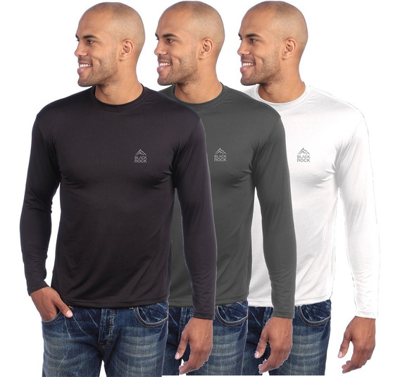 Camiseta Remera Térmica Frizada Black Rock Hombre
