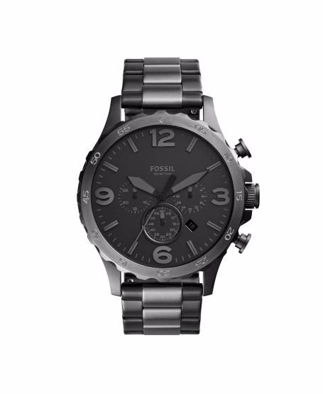 Relógio Fóssil Masculino Nate Aço Inoxidável