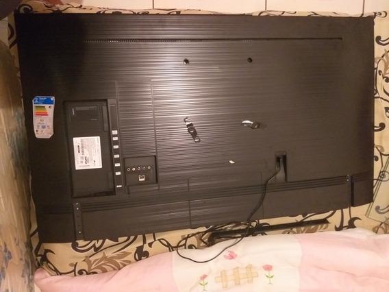 Tv Samsung 4k 50 C/ Tela Quebrada, Com 4 Meses De Uso.