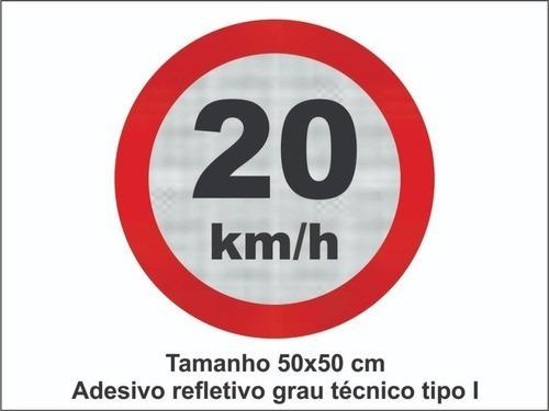 Placa De Trânsito 20km / De A Preferência