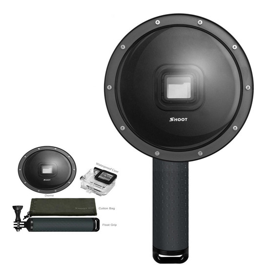 Dome 6 Pol. + Caixa Estanque Gopro Hero 7 6 5 Black