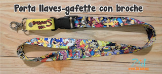 Lanyard / Cordón Porta Llaves Temática The Simpsons