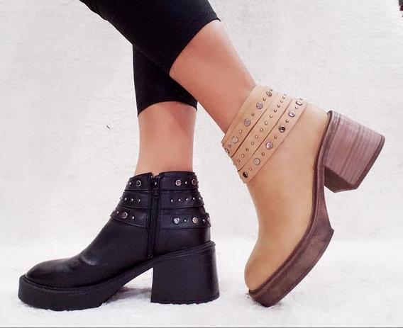 Zapatos Mujer Botas Botinetas Plataforma Livianas Texanas