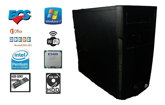 Cpu 4 Gb Ram Dual Core E5400 2,7 Ghz Hd 320 Gb Wi-fi Ecs