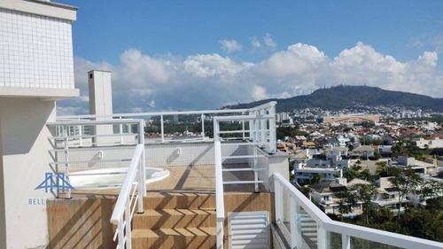 Imagem 1 de 30 de Cobertura Com 4 Dormitórios, 237 M² - Venda Por R$ 2.192.856,00 Ou Aluguel Por R$ 6.900,00/mês - Parque São Jorge - Florianópolis/sc - Co0210