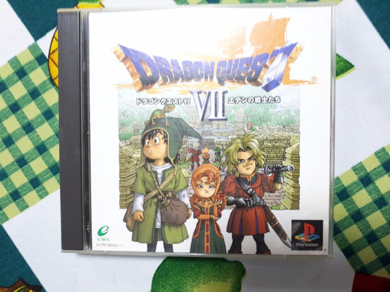 Dragon Quest Vii 7 Original Playstation One Ps1 Psx D6