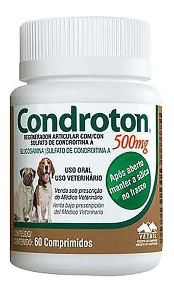 Condroton 500 Mg 60 Comprimidos Vetnil