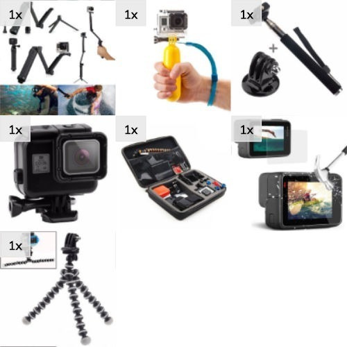 Kit Hero 5 6 7 Black Mala G Estanque Preta Películas 3 Way