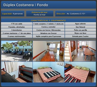 Alojamiento Alquiler Duplex Dep 9 Y 12 Personas San Clemente