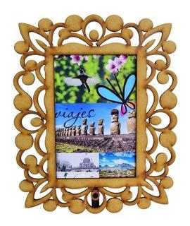 Porta Retrato Marco Para Fotos De 10x15 Cm En Madera Mdf