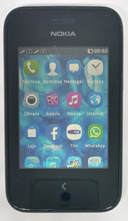 Nokia Asha 230 Dual Preto Original Nacional Semi Novo