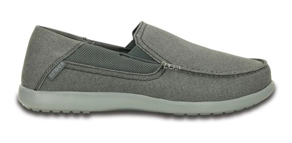 Zapatos Crocs Hombre Santa Cruz 2 Luxe Charcoal Light Grey