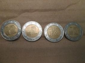 Moneda 2 Nuevos Pesos Años 1992,1993,1994,1995 Usadas