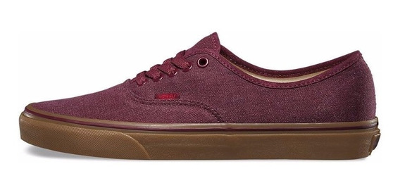 Tênis Vans Authentic Washed Canvas/port
