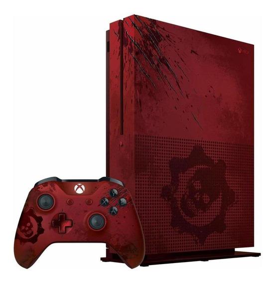 Microsoft Xbox One S 2tb Gears Of War 4 Limited Edition Crim