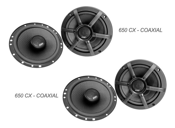 Kit 4 Alto Falantes Dat Cx 650 Coaxial 6 Polegadas