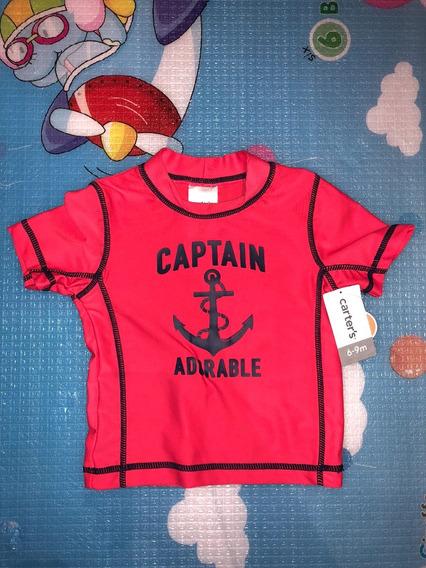 Camiseta Surfista Para Bebê Em Lycra Carters