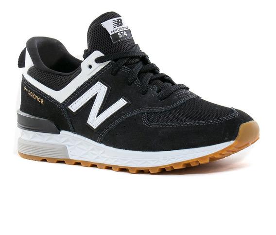Zapatilla New Balance 574 Negra Con Blanco Zapatillas en