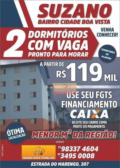Apartamento Com 2 Dormitórios À Venda, 42 M² Por R$ 119.000 - Cidade Boa Vista - Suzano/sp - Ap0793