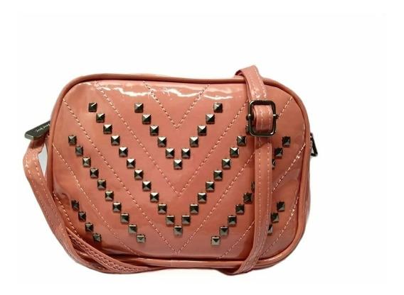 Bolsa Feminina De Verniz Pequena Mini Bolsa Com Taxinhas