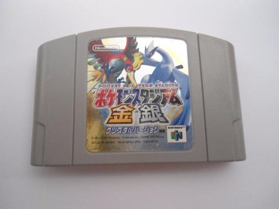 Pokemon Stadium Gold Silver - Crystal Version N64 Frete 15