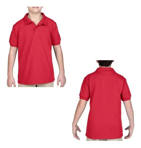 Camiseta Tipo Polo Camisas Escolar Deporte Niños Uniforme