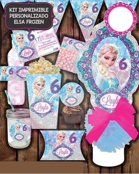 Kit Imprimible Elsa Frozen