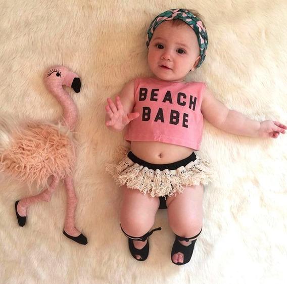 Moda Para Bebe Niña Hermoso Outfit Ropita Para El Verano