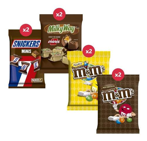 Snickers Mini X2 + M&m Peanut X2 + M&m Chocx2 + Milky Way X2