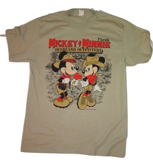 Playera Mickey Y Minnie Mouse Vintage 70s 80s
