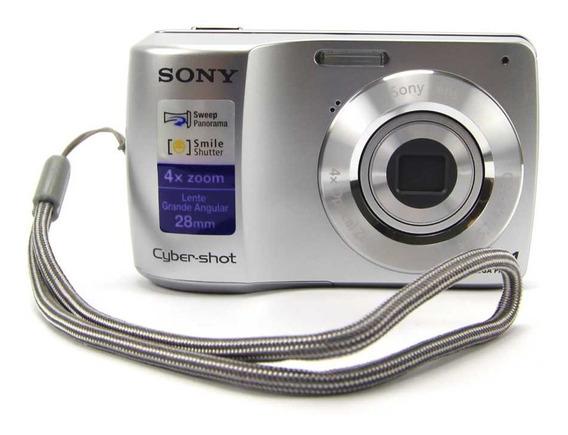 Câmera Sony Cybershot 10,1mp Tela 2,7 Lcd Dsc-s3000 Prata