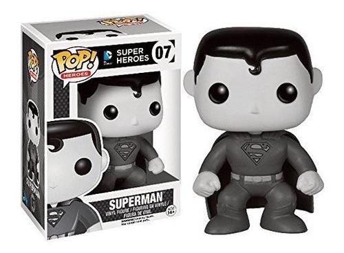 Funko Pop! Dc Heroes No. 07 Negro - Blanco Superman