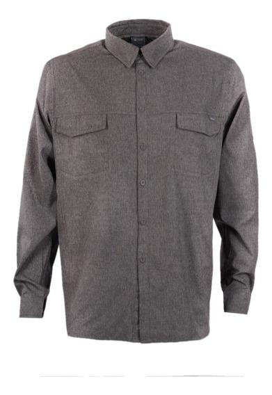 Camisa Hombre Rosselot Q-dry Shirt L/s Grafito Lippi