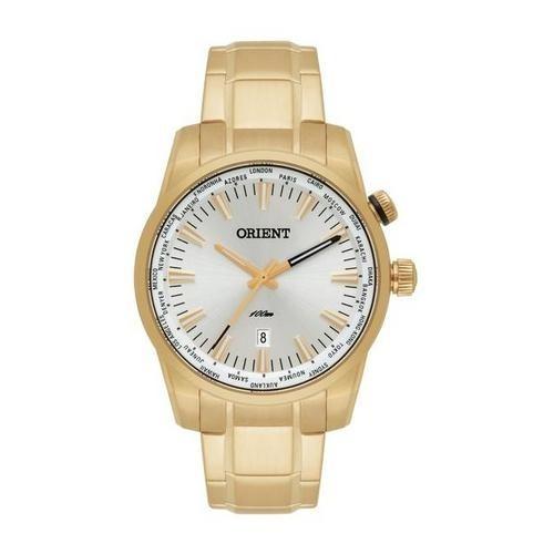 Relógio Orient Mgss1098 Dourado Aro Rotativo Original